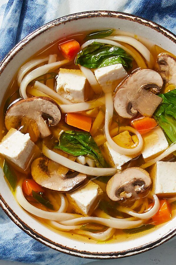 Vegetarian Udon Noodle Soup Recipe In 2020 Vegetarian Udon Udon Noodle Soup Vegetarian Udon Noodle Soup
