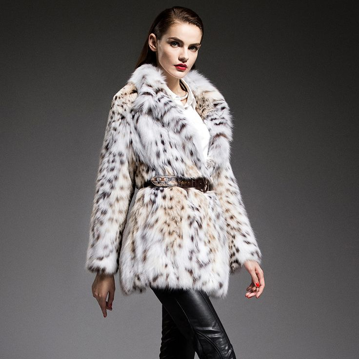 Saga Luxury Lynx Fur Coat Celebrity Fashion Style Women Furry Luxury Celebrity Trend