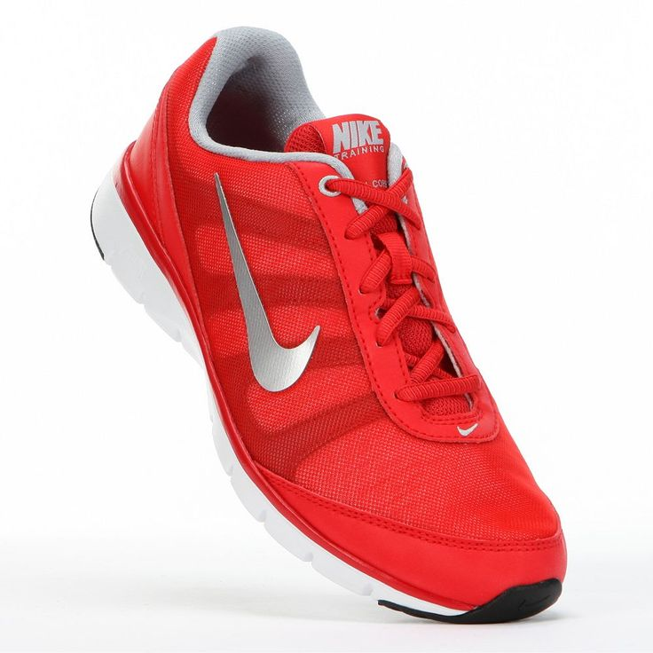 Power your workout in power red #Nike shoes. #fitness #Kohls