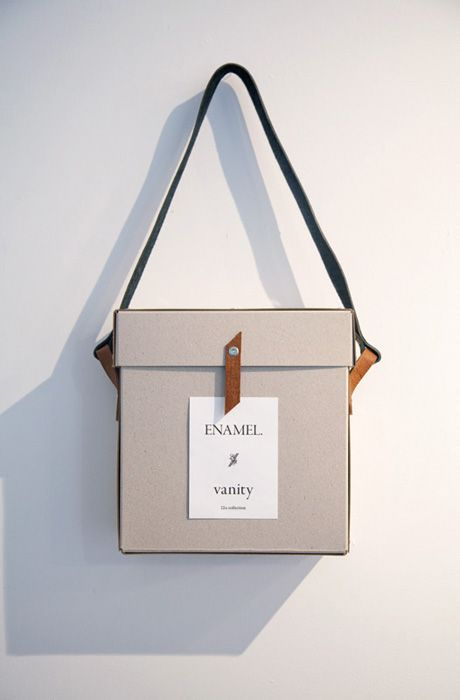 Paper box...would be interesting to try something similar out in leather