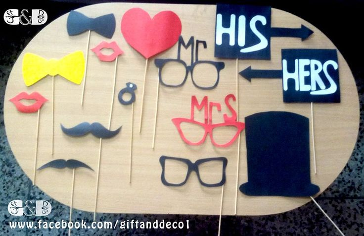 Photobooth Props  #BridalShower #Photobooth #Props #Party #Decoration