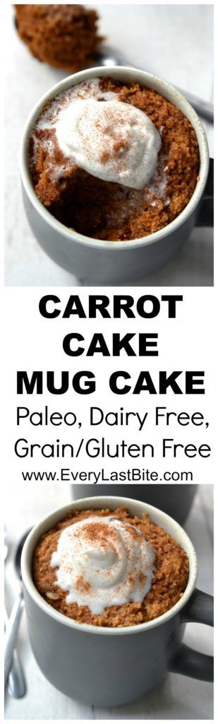 Carrot Cake Mug Cake #justeatrealfood #everylastbite