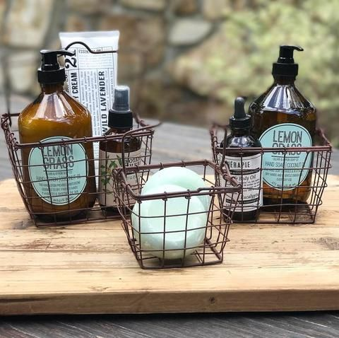 These little farmhouse baskets are sold as a set of three! Each basket has a...
