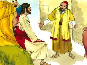 A teacher of the Law came up and tried to trap Jesus. 'Teacher,' he asked, 'what must I do to receive eternal life?' – Slide 1
