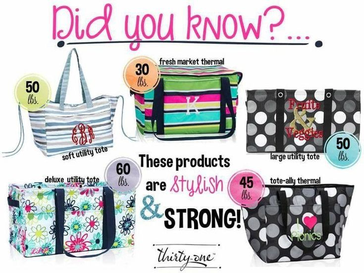 Thirty-One bags are durable and sturdy. How much can your bag hold?