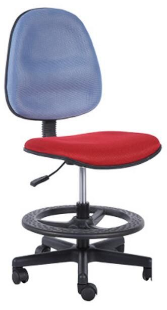 Cheap Staff Office Operator Chairs Counter Cashier Chair Swivel Drafting  Chair With Foot Ring   China
