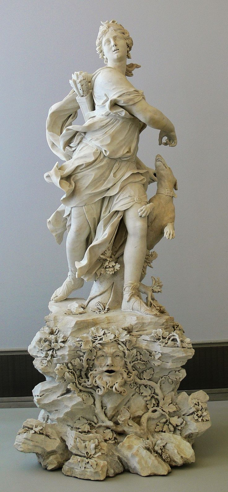 Diana as the Huntress by Bernardino Cametti, 1720