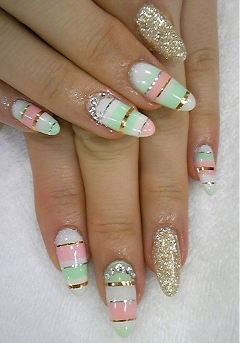Stylish Pastel Nail Art Designs for Summer 2012