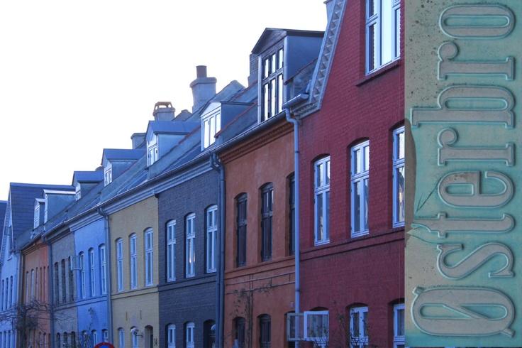 A splash of Copenhagen colour in Olufsvej, Østerbro.