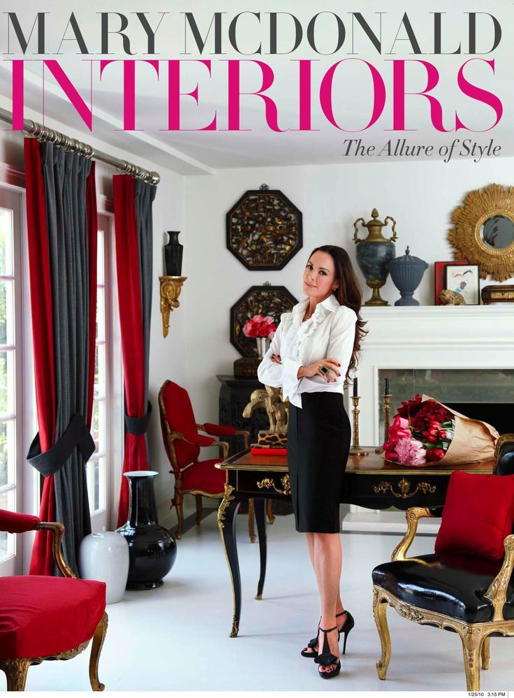 Mary McDonald Inc Interiors Mary McDonald Interior Designer Million Dollar  Decorators Style