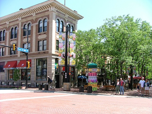 Shopping on Pearl St. in Boulder, Colorado by yblwinfl, via Flickr #ridecolorfully - a hippie place