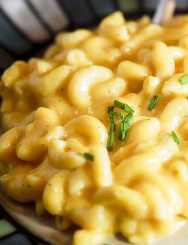 Paula Deen's Crockpot Mac and Cheese (I threw in some left over swiss also) Steve gave this an 8,