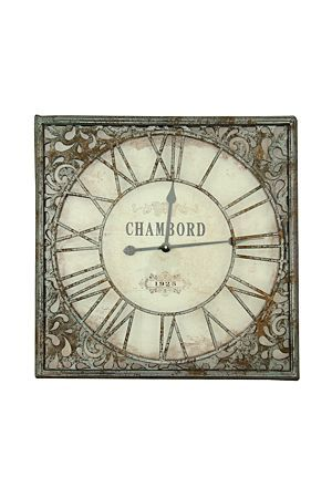 """This vintage scroll chambord clock looks great in a feminine styled home, it makes a beautiful center piece in your lounge or dining area.<div class=""""pdpDescContent""""><BR /><b class=""""pdpDesc"""">Dimensions:</b><BR />L60xH60 cm</div>"""