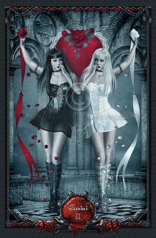 Gothic Zodiac: Geminis *UnholyVault on deviantART