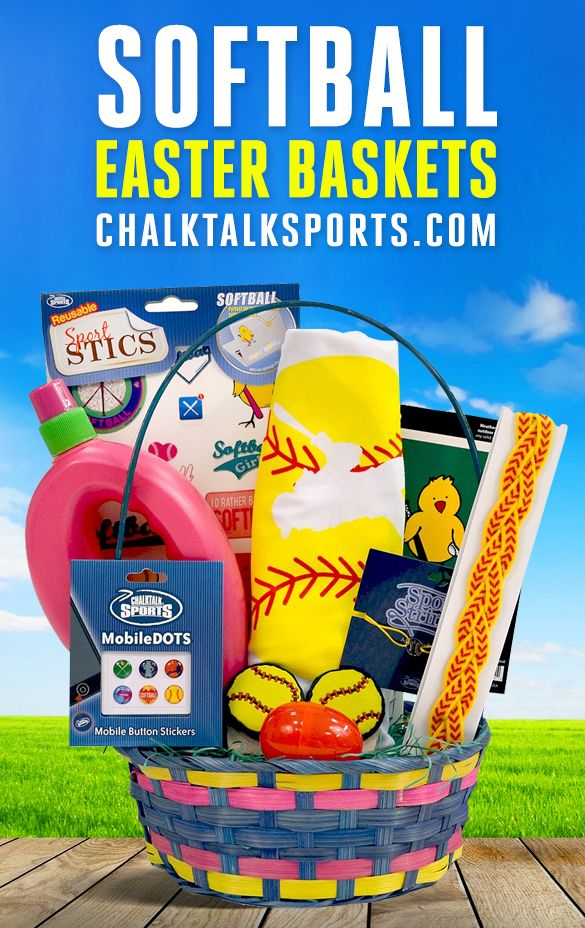 79 best sports easter baskets images on pinterest easter baskets for easter this year surprise your favorite softball player with a softball easter basket filled negle Gallery