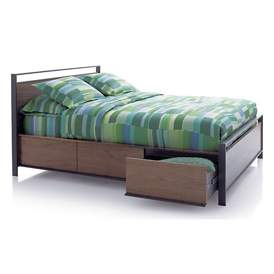 Bowery Queen Storage Bed In Beds Headboards Crate And
