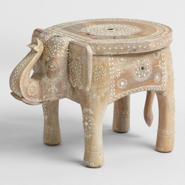 Elephant Stool Ad Decor Wood Home Decor Painted Stools