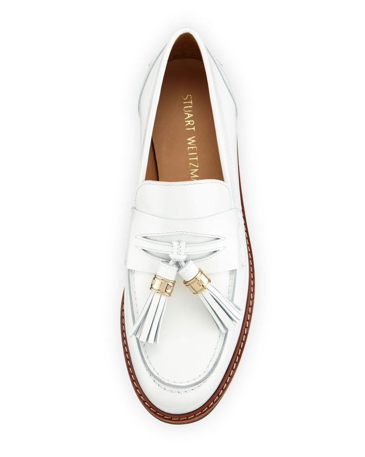 Stuart Weitzman Manila Leather Tassel Loafer