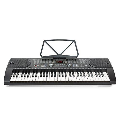 Hamzer 61 Key Electronic Piano Electric Organ Music Keyboard with Stand – Black