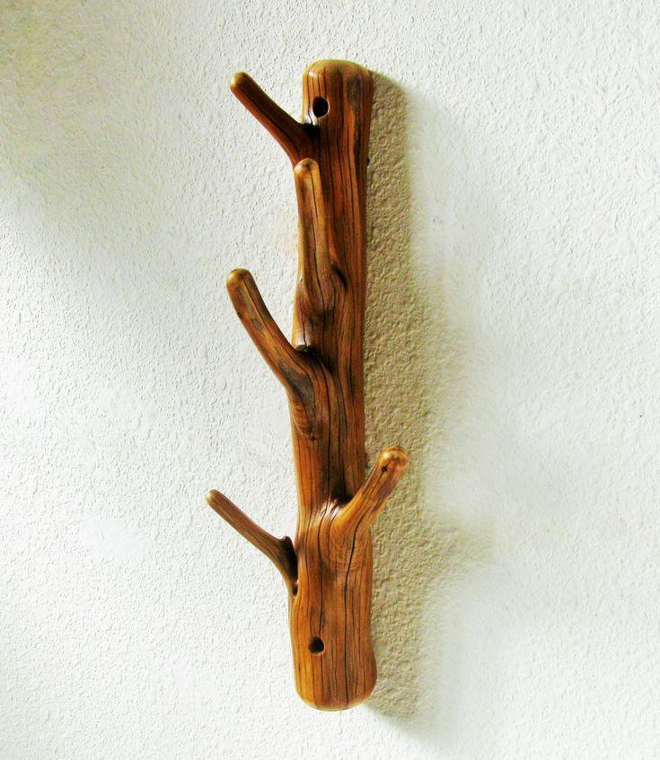Natural Juniper five hook Tree Branch Wall