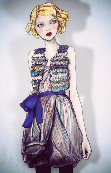 Reem Acra 2010 Collection 8in X 11in Art Print by DannyRoberts, $20.00