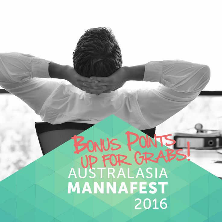 We're offering bonus points, in some cases DOUBLE POINTS on all points earned towards the incentive. #mannafest #australasiamannafest #incentives #mannatechaustralasia