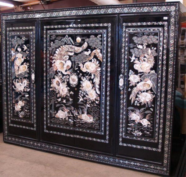 Korean Mother of Pearl Inlaid Lacquer