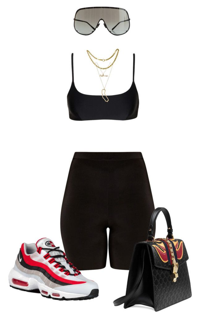 """""""Chill k"""" by newstyleee ❤ liked on Polyvore featuring NIKE, Gucci, Matteau, Charlotte Russe and Rick Owens"""