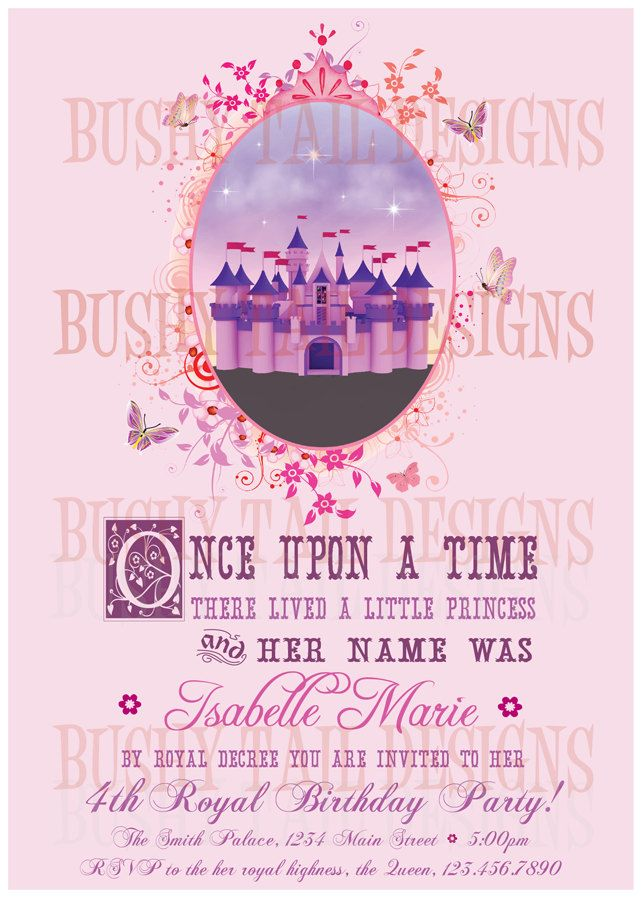 Princess Castle Birthday Party Invitation!  This is so awesome!Birthday Parties, Party Invitations, Birthday Invitations, Princesses Castles, Parties Ideas, Parties Invitations, Princesses Parties, Birthday Ideas, Castles Birthday