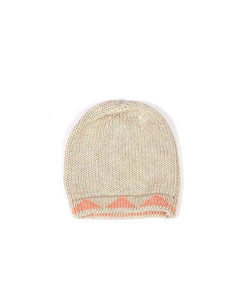 Alpine Baby Hat 0-1yrs Blush Pink/Natural \ Krinkle Gifts