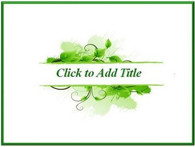 Fresh Leaf is a template that can be used for many types of theme presentation. With white and green the dominant color in the background makes your presentation more fresh. Accompanied by animated on the title text, and two different backgrounds. So, why do not you try it?