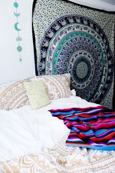 Get this look✨ Lady Scorpio Duvet, Voodoo Dreams Tapestry, Adventure Bound Serape, Moon Phase Wall Hanging and Bohemian Mirror Work Pillow Covers ☽ ✩ Save 25% off all orders with code PINTERESTXO at checkout | Bohemian Boho Wall Hanging Tapestry Pillow Covers by Lady Scorpio | Shop Now LadyScorpio101.com | | @LadyScorpio101 | Photography by @Luna8lue