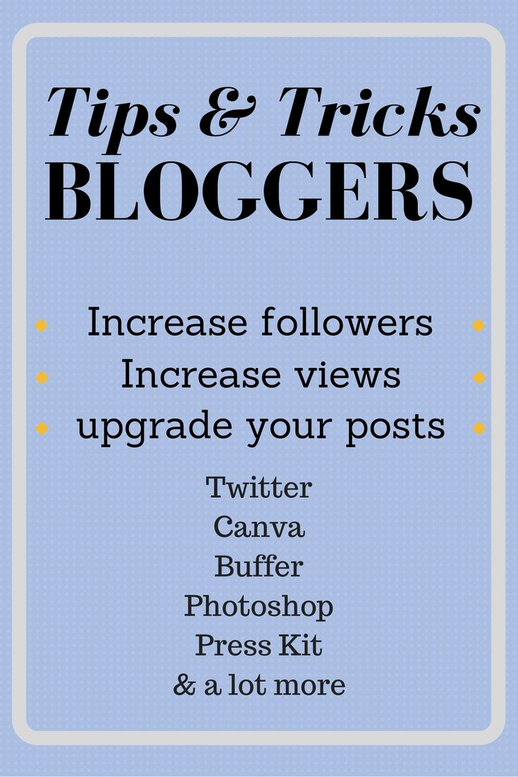 Grow your views and followers with real tricks on https://samanthacarraro.wordpress.com/2016/09/08/best-tools-tips-tricks-for-bloggers | Blogging | Real help