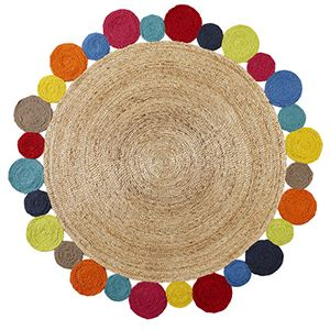 daisy rug - multi - Lilly & Lolly Designer Kids Furniture & Linen