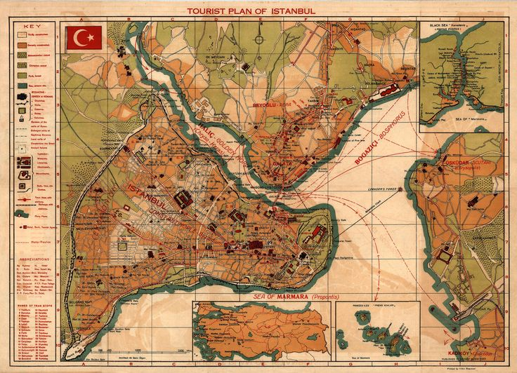 Afternoon Map: Istanbul Tourist Maps