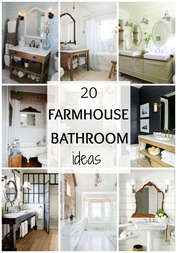 best 20+ farmhouse style bathrooms ideas on pinterest