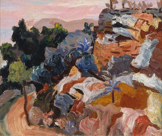 Carlo Levi (Italian, 1902-1975), Paesaggio di Alassio, 1933