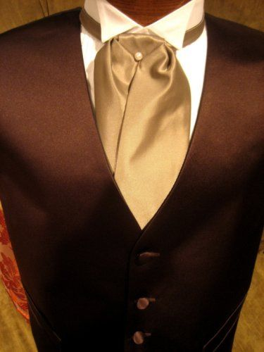 "chocolate tux | Satin Tuxedo Vest – Chocolate Brown with ""Solid Fusion ..."