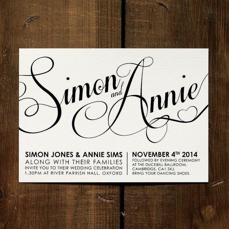 Modern Script Wedding Invitation Stationery
