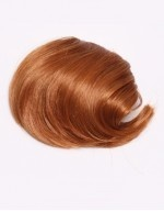 Wonderland Wigs - Ginger Clip In Fringe Hairpiece (Straight). As hairpieces go, the fringe is one of the simplest ways to change your hairstyle affordably and instantly. This ginger clip in fringe is in a straight style and has 2 hidden combs which easily and securely attach to your real hair, giving a perfect fringe extension in minutes. The colour is a natural ginger (#27s) shade. #essentialhairpieces