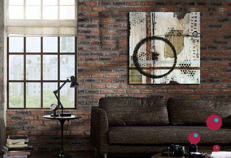 Instant Tableau 3d Abstrait Moderne Style Industriel