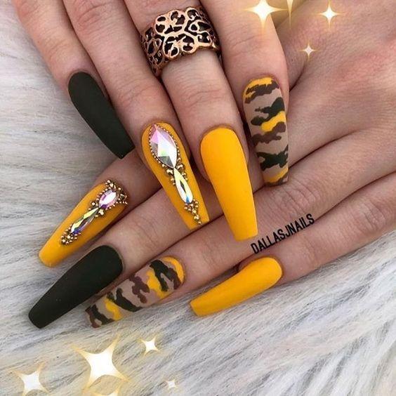 50 trendige Camouflage-Nageldesigns – Nails