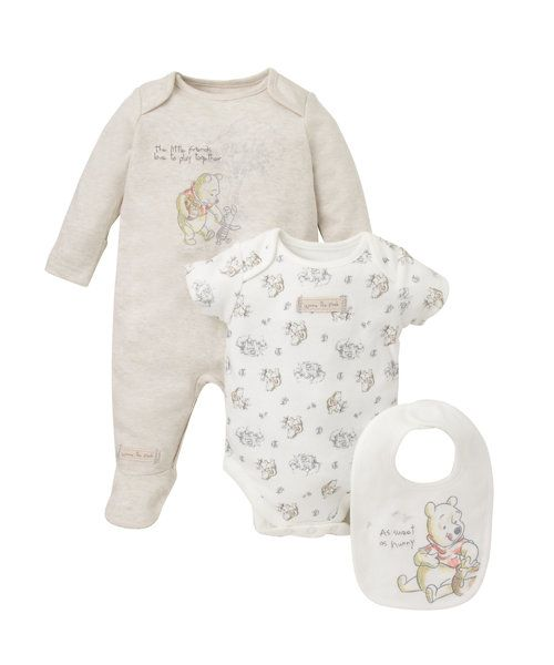 Disney Winnie The Pooh Set - 3 Piece http://www.parentideal.co.uk/mothercare---baby-clothes.html