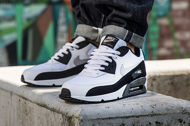 NIKE AIR MAX 90 (WHITE/WOLF GREY/BLACK) - Sneaker Freaker