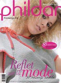 Phildar №018 - Gilets et pulls kimono jusqu'à la taille 52