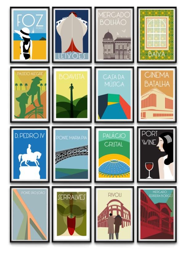 Porto Poster Collection by João F Brandão, via Behance