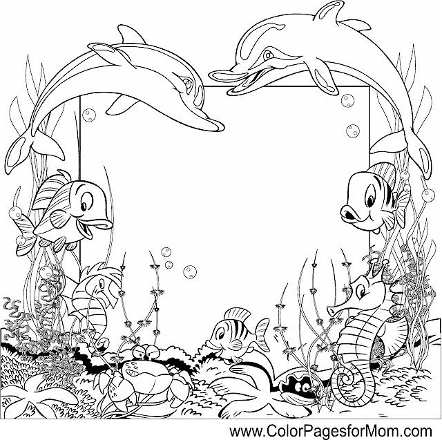 sea and ocean coloring page 21 - Art Therapy Coloring Pages Animals