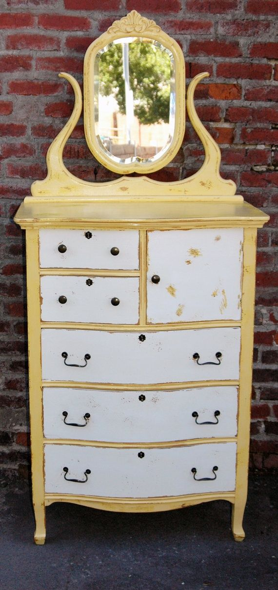 Distressed painted furniture antique high boy by - Phone charging furniture the future in your home ...