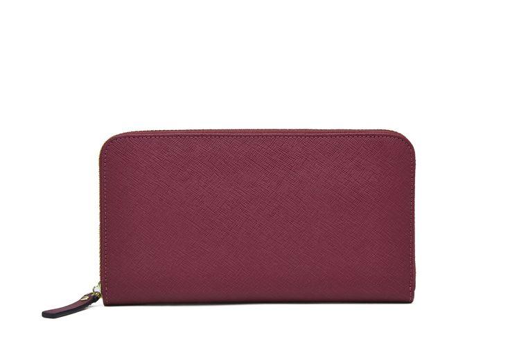 Berry Zipper Wallet