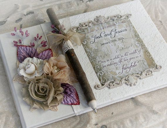 FAIRYTALE wedding guestbook vintage wedding by TheVictorianGarden, $78.00